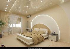 nice Yatak odası asma tavan modelleri 2016