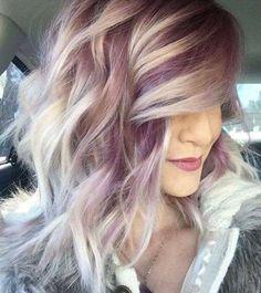 Fall Hair <3 Purple and platinum