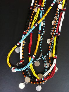 Maasai colors are bold and gorgeous, and also hold incredible cultural meaning. #shopsoko #Africa #glass #beads #necklace #jewelry #afrochic www.shopsoko.com