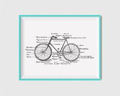 Vintage Bicycle Print, Gifts for Cyclists, Printable Cycling Poster, Bicycle Art, Cycling Print Post Cycling Quotes, Cycling Art, Indoor Cycling, Cycling For Beginners, Bicycle Print, Frame Display, Poster Prints, Art Prints, Cyclists
