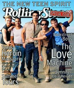 """Backstreet Boys on """"Rolling Stone"""" cover in May 1999 Backstreet Boys, Divas, Rolling Stone Magazine Cover, Bad Cover, Brian Littrell, Cool Magazine, Magazine Covers, New Teen, Nick Carter"""