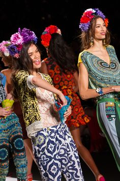 Desigual Collection presentation for Spring 2015 - New York Fashion Week - by Robert Essl - www.robertessl.com Christian Lacroix, Pulls, Spring 2015, New York Fashion, Lily Pulitzer, Peplum Dress, Presentation, Runway, Collections