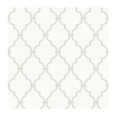 Amazon.com: York Wallcoverings YS9102 Peek-A-Boo Graphic Trellis Wallpaper, White/Soft Taupe Grey: Home Improvement
