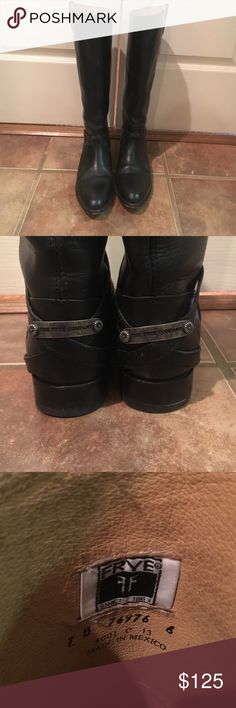Black Frye Boots Black Frye Boots worn probably 3 times. Great condition just got a new pair of That I wear instead of these. Offers welcome Frye Shoes Winter & Rain Boots