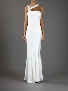 JOHN GALLIANO - pleated fishtail gown