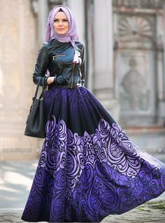 Exclusive Skirt - Purple - Muslima Wear