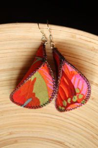 lovely fabric earrings