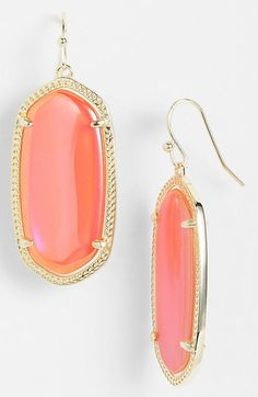 Kendra Scott 'Elle' Drop Earrings available at #Nordstrom Goldstone
