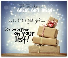 Just the right gift for EVERYONE on your list - I love these gift ideas!!