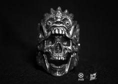 """Rangda"" Balinese Ring ~ IRON CLAN METAL PROJECT × YEYEAAGHH x HOTSTUFF PEWTER INDONESIA"
