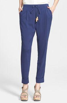 Fabiana Filippi Stretch Silk Pants available at #Nordstrom