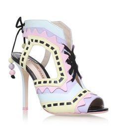 SOPHIA WEBSTER Riko Leather Sandals. #sophiawebster #shoes #
