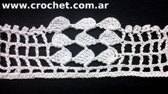 Puntilla N° 46 en tejido crochet tutorial paso a paso. Más videos: https://www.youtube.com/user/Panchonet/videos