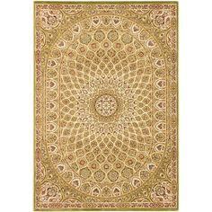 Persia Isfahan Light Green 7 ft. 10 in. x 11 ft. 2 in. Area Rug