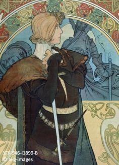 Detail from Alphonse Mucha's poster for Sarah Bernhardt as Hamlet (Hamlet, 1600), 1899  akg-images