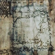 """""""A meandering line sutures together the world in some new way, as though walking was sewing and sewing was telling a story and that story was your life."""" Rebecca Solnit, from """"the Faraway Nearby"""", copied and pasted from https://theamericanscholar.org/say-anything/#.WWGIXzxlaaM . . #unravelling #encrypted #decoded #enigma #sewing #stitching #needlesandthreads #cloth #paper #indiaflint #inthethickofit #rebeccasolnit #writing"""