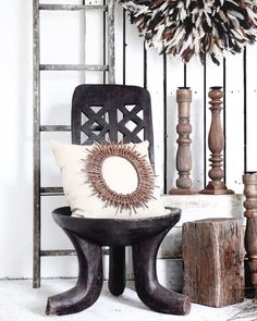 Village - Tribe Zen There's something so therapeutic about an all natural interior. Texture will feather a space with comfort & create interest; and bold-dark tones against a light backdrop will invite harmony.