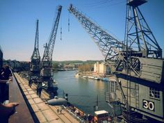 Old Cranes at the Harbour - Bristol UK  #infrastructure #cranes #harbour #bristol #photography