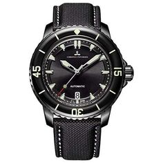 Cheap watch for, Buy Quality watches for men directly from China watch with Suppliers: Reef Tiger/RT Super Luminous Automatic Watches for Men Black Steel Nylon Strap Dive Watch with Date Sport Watches, Cool Watches, Men's Watches, Wrist Watches, Fashion Watches, Dove Men, Automatic Watches For Men, Waterproof Watch, Mechanical Watch