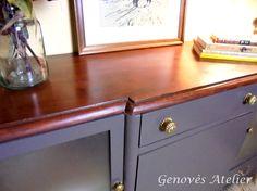 Sobre madera mueble modernista Genoves Atelier
