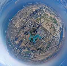 A 360 Degree Panoramic Photo Captured from the Tallest Building on Earth