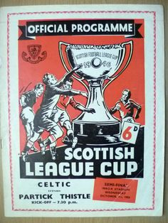 1958 Scottish League Cup SEMI FINAL- CELTIC v PARTICK THISTLE, 1st October | eBay