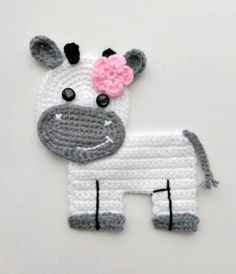 Crochet Patterns PDF Barn Tractor Cow Pig Sheep Chicken Crochet Appliques Accessories Motif Ornament Baby ENG 40 available EUR EUR You save EUR VAT Included, Add to cart Source by teresaluciaguimaraes Crochet Puff Flower, Crochet Cow, Crochet Animals, Crochet Flowers, Crochet Hooks, Crochet Applique Patterns Free, Crochet Motifs, Crochet Flower Patterns, Crochet Appliques