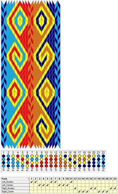 My draft for Nicole's Rams Horn cardwoven pattern