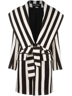 Shop Balmain striped coat  in Curve from the world's best independent boutiques at farfetch.com. Shop 400 boutiques at one address.