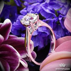'Fine Line' Solitaire Engagement Ring.