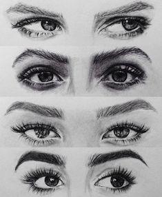 Charcoal Drawing Tips Female eye drawing Eye Drawing Tutorials, Drawing Techniques, Art Tutorials, Drawing Tips, Learn Drawing, Drawing Ideas, Pencil Art Drawings, Art Drawings Sketches, Eye Drawings
