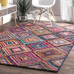 Shop The Curated Nomad Alcatraz Multicolor Windows Area Rug - Overstock - 20254143 Kindergarten Classroom Decor, Contemporary Area Rugs, Rugs Usa, Online Home Decor Stores, Online Shopping, Buy Rugs, Cool Rugs, Rug Making, Rugs Online