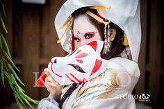 Japanese Fox Mask, Kokoro, Mystery, Culture, Poses, Fictional Characters, Beautiful, Makeup, Geisha Art