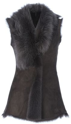 Rough Edge Shearling Gilet - Lyst