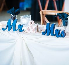 Mr and Mrs Table Signs for a Ultra Romantic Sweetheart Table Setting | Unique Table Signs and Event Decor, Gifts & Accessories at www.ZCreateDesign... or ZCreateDesign on Etsy and Amazon Handmade