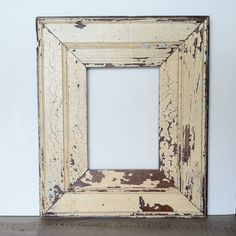 New Orleans Reclaimed Wood Frame,  Beadboard, Antique White and Light Blue  by RestorationHarbor