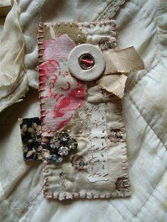 quilt fragment brooch