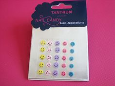 Smiley Face Nail Decorations £0.95