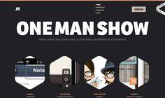 Clean, Hexagonal image design, Strong site header