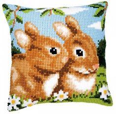 Подушка для вышивания Vervaco PN-0008489(110-1200) Кролики