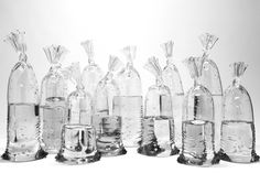 Glass Sculptures by Dylan Martinez Perfectly Imitate Water-Filled Plastic Bags | Colossal