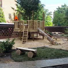 Natural Playgrounds Store -- tree to grow in middle of deck