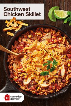 Chicken Skillet Recipes, Easy Casserole Recipes, Skillet Meals, Chicken Casserole, Cooker Recipes, Crockpot Recipes, Food Dishes, Main Dishes, Pasta