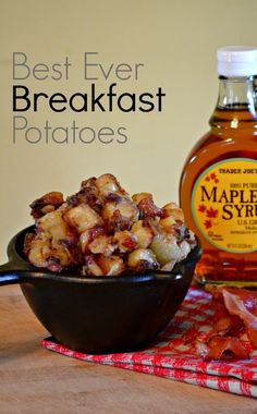 Best ever breakfast potatoes recipe. Bacon adds a smoky flavor while the maple syrup leaves a subtle sweetness.