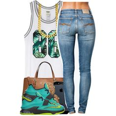 5815 by polyvoreitems5 on Polyvore featuring polyvore, fashion, style, Nudie Jeans Co., Michael Kors, Chanel and NIKE