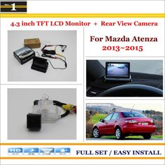 """Car Reverse Rear Camera + 4.3"""" TFT LCD Monitor = 2 in 1 Parking System - For Mazda Atenza 2013~2015"""