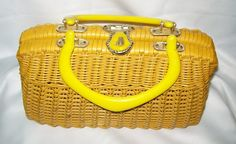 Vintage Straw Purse Made for Simon Co. by CrazyforthePast on Etsy
