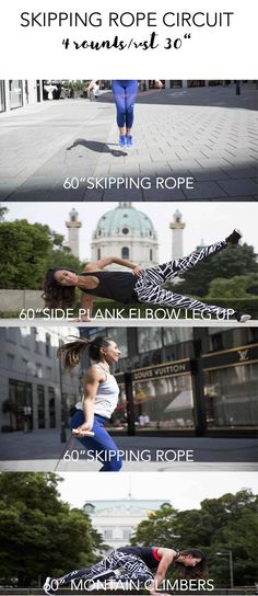 Skipping rope workout circuit – Angie Fliehser Workout Circuit, Skipping Rope, Workouts, Fitness, Work Outs, Excercise, Workout Exercises, Fitness Exercises, Exercises