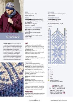 The Knitter 118 2017 Fair Isle Knitting Patterns, Fair Isle Pattern, Knitting Charts, Cable Knitting, Knitting Books, Hand Knitting, Knit Mittens, Knitted Hats, Cute Hats