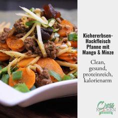Kichererbsen-Hackfleisch Pfanne mit Mango und Minze! #hackfleisch #mango #kichererbsen #cleaneating #clean #lowcarb #lowcarbdiet #lowcarbrecipes #gesund #gesundessen #gesunderezepte #fitness #fitnessfood #crosskitchende #healthyfood #healthyfood #healthyeating #sugarfree #sugarfreerecipe #keto #ketorecipes #ketodiet #protein
